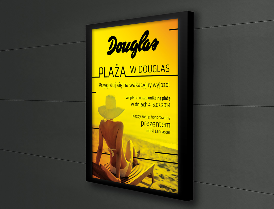 Plakat Douglas - plaża